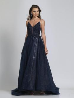 Style A9027 Dave & Johnny Blue Size 6 Pageant Tall Height Ball gown on Queenly
