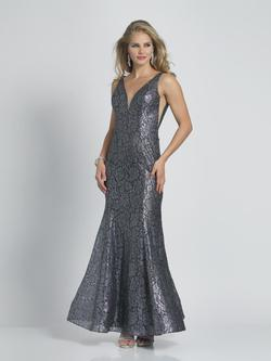 Style A9043 Dave & Johnny Silver Size 16 Wedding Guest Prom Plus Size Mermaid Dress on Queenly