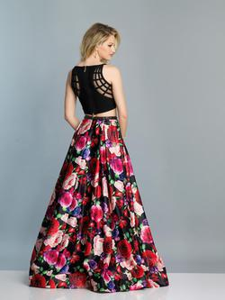 Style A7221 Dave & Johnny Multicolor Size 4 Tall Height Wedding Guest A-line Dress on Queenly