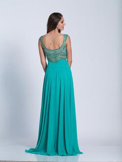 Style A6187 Dave & Johnny Green Size 24 Plus Size Side slit Dress on Queenly