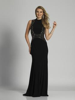 Style A6605 Dave & Johnny Black Size 12 Sorority Formal Tall Height Wedding Guest Mermaid Dress on Queenly