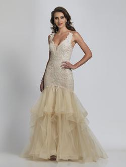 Style A8527 Dave & Johnny Nude Size 14 Tall Height Lace Mermaid Dress on Queenly