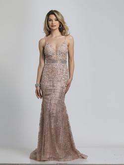 Style A8804 Dave & Johnny Nude Size 4 Tall Height Mermaid Dress on Queenly