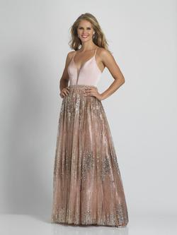 Style A8749 Dave & Johnny gold Size 2 Tall Height Wedding Guest A-line Dress on Queenly