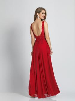 Style A9147 Dave & Johnny Red Size 14 Prom Plus Size A-line Dress on Queenly