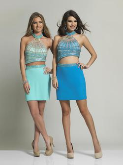Style 1751 Dave & Johnny Blue Size 4 Sorority Formal Dave And Johnny Bodycon Cocktail Dress on Queenly