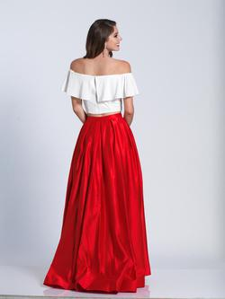 Style A6139 Dave & Johnny Red Size 10 Tall Height Ball gown on Queenly