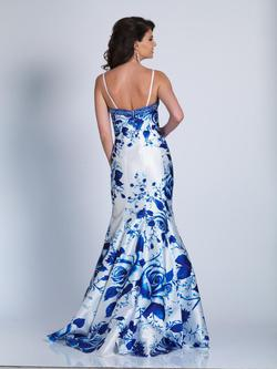 Style A6042 Dave & Johnny Multicolor Size 12 Prom Floral Jersey Mermaid Dress on Queenly
