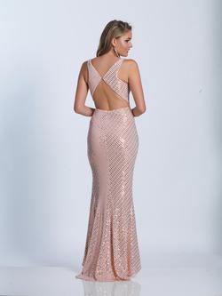 Style 3439 Dave & Johnny Pink Size 6 Sorority Formal Tall Height Wedding Guest Side slit Dress on Queenly
