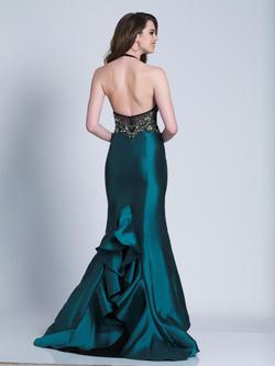 Style 3454 Dave & Johnny Green Size 14 Pageant Dave And Johnny Emerald Silk Mermaid Dress on Queenly