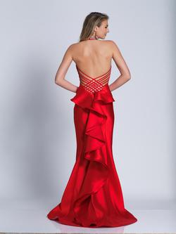 Style 3422 Dave & Johnny Red Size 4 Pageant Tall Height Mermaid Dress on Queenly