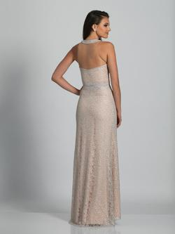 Style A5692 Dave & Johnny Nude Size 4 Sheer Tall Height Mermaid Dress on Queenly