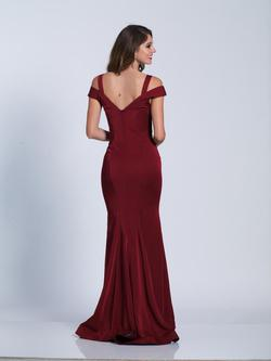 Style A6425 Dave & Johnny Red Size 2 Sorority Formal Jersey Prom Wedding Guest Mermaid Dress on Queenly