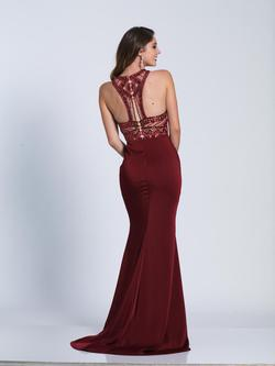 Style 3443 Dave & Johnny Red Size 4 Burgundy Halter Mermaid Dress on Queenly