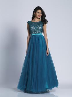 Style A5274 Dave & Johnny Blue Size 18 Teal Plus Size Prom Pageant A-line Dress on Queenly