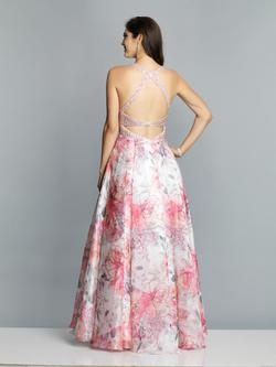 Style A7527 Dave & Johnny Light Pink Size 10 Prom Halter A-line Dress on Queenly