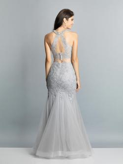 Style A7642 Dave & Johnny Silver Size 6 Halter Tall Height Mermaid Dress on Queenly