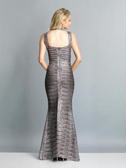 Style A7383 Dave & Johnny Silver Size 10 Tall Height Wedding Guest Mermaid Dress on Queenly