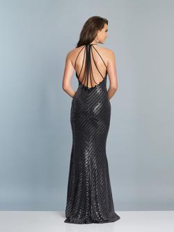 Style A6919 Dave & Johnny Silver Size 8 Sorority Formal Dave And Johnny Side slit Dress on Queenly