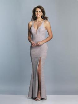Style A6918 Dave & Johnny Silver Size 2 Sorority Formal Dave And Johnny Side slit Dress on Queenly