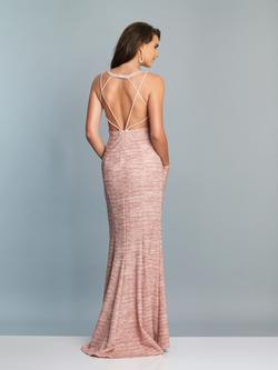 Style A7069 Dave & Johnny Light Pink Size 4 Sorority Formal Dave And Johnny Side slit Dress on Queenly