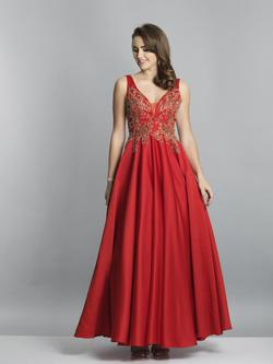 Style A7517 Dave & Johnny Red Size 24 Prom Dave And Johnny A-line Dress on Queenly