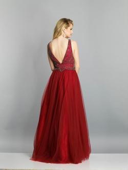 Style A7688 Dave & Johnny Red Size 22 Pageant Dave And Johnny Ball gown on Queenly