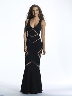 Style 1018 Dave & Johnny Black Size 6 Sorority Formal Prom Wedding Guest Mermaid Dress on Queenly