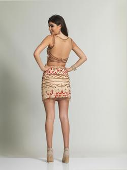 Style 1989 Dave & Johnny Nude Size 4 Tall Height Cocktail Dress on Queenly