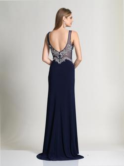Style 2483 Dave & Johnny Blue Size 10 Sorority Formal Tall Height Wedding Guest Straight Dress on Queenly