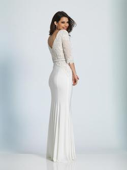 Style A4945 Dave & Johnny White Size 2 Prom Ivory Dave And Johnny Jersey Straight Dress on Queenly