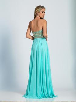 Style A4171 Dave & Johnny Blue Size 0 Turquoise Dave And Johnny Straight Dress on Queenly