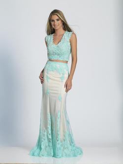 Style A4160 Dave & Johnny Blue Size 2 Turquoise Two Piece Dave And Johnny Straight Dress on Queenly