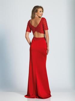 Style 3084 Dave & Johnny Red Size 10 Prom Two Piece Dave And Johnny Straight Dress on Queenly