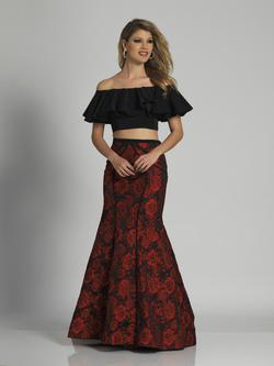 Style A6235 Dave & Johnny Red Size 0 Two Piece Dave And Johnny Mermaid Dress on Queenly