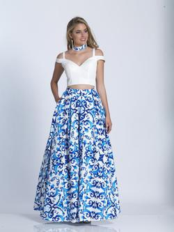 Style 3473 Dave & Johnny Multicolor Size 6 High Neck Dave And Johnny A-line Dress on Queenly