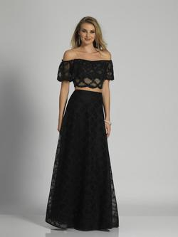 Style A6237 Dave & Johnny Black Size 4 Prom Two Piece Dave And Johnny A-line Dress on Queenly