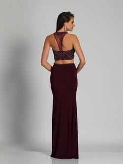 Style A5503 Dave & Johnny Red Size 12 Two Piece Sorority Formal Dave And Johnny Burgundy Straight Dress on Queenly