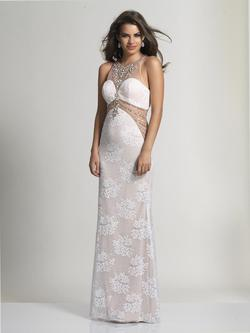 Style 2718 Dave & Johnny White Size 2 Prom Ivory Dave And Johnny Cut Out Straight Dress on Queenly