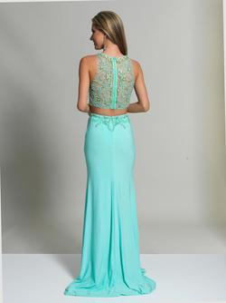 Style 2499 Dave & Johnny Blue Size 2 Two Piece Dave And Johnny Jersey Straight Dress on Queenly