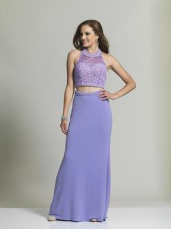 Style 2462 Dave & Johnny Purple Size 2 Two Piece Sorority Formal Dave And Johnny Straight Dress on Queenly