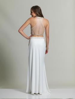 Style 2453 Dave & Johnny White Size 4 Prom Ivory Two Piece Dave And Johnny Straight Dress on Queenly