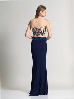 Style 2317 Dave & Johnny Blue Size 4 Two Piece Dave And Johnny Jersey Straight Dress on Queenly
