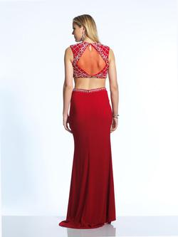 Style 2260 Dave & Johnny Red Size 8 Two Piece Dave And Johnny Jersey Straight Dress on Queenly