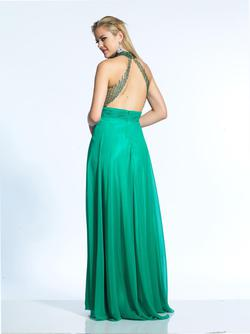 Style 2081 Dave & Johnny Green Size 6 Prom Dave And Johnny Straight Dress on Queenly