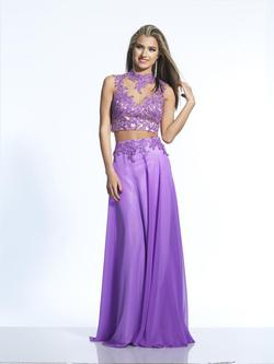 Style 2070 Dave & Johnny Purple Size 8 Prom Two Piece Dave And Johnny Straight Dress on Queenly