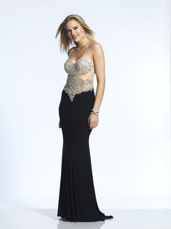 Style 2016 Dave & Johnny Black Size 2 Prom Dave And Johnny Cut Out Straight Dress on Queenly