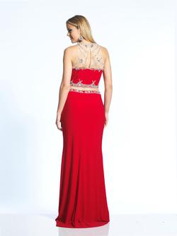Style 1960 Dave & Johnny Red Size 10 Two Piece Dave And Johnny Jersey Straight Dress on Queenly
