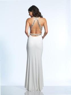 Style 1771 Dave & Johnny White Size 2 Ivory Dave And Johnny Jersey Straight Dress on Queenly