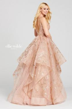 Style EW120005 Ellie Wilde Pink Size 10 Backless Tall Height V Neck A-line Dress on Queenly